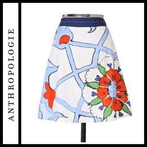 Anthropologie Floreat Leadlight Skirt